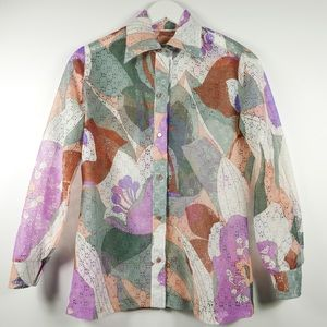 (SOLD) Vintage 70s Printed Button Down